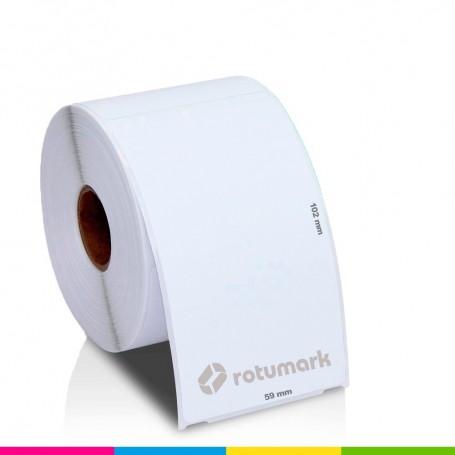 Rollo 59mmx102mm 30256 De etiquetas DYMO compatibles